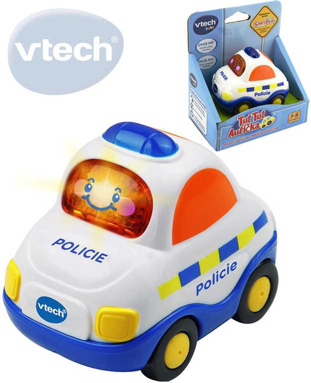 VTECH Baby autíčko Tut Tut Policie 8cm mluvící zpívající CZ na baterie Světlo Zvuk