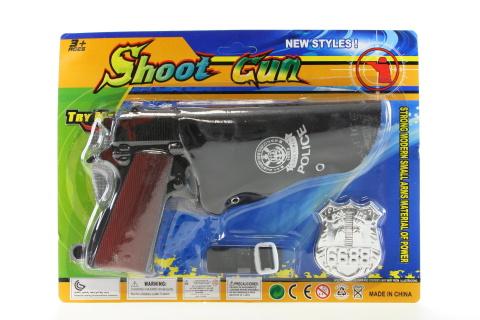 Policejní pistole s doplňky