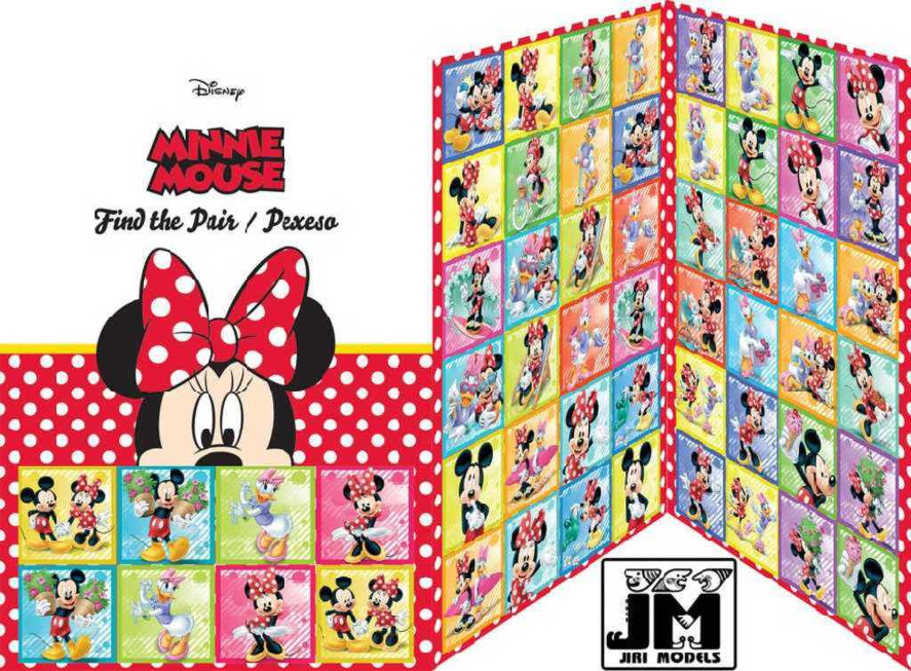 JIRI MODELS Hra pexeso Disney Minnie Mouse