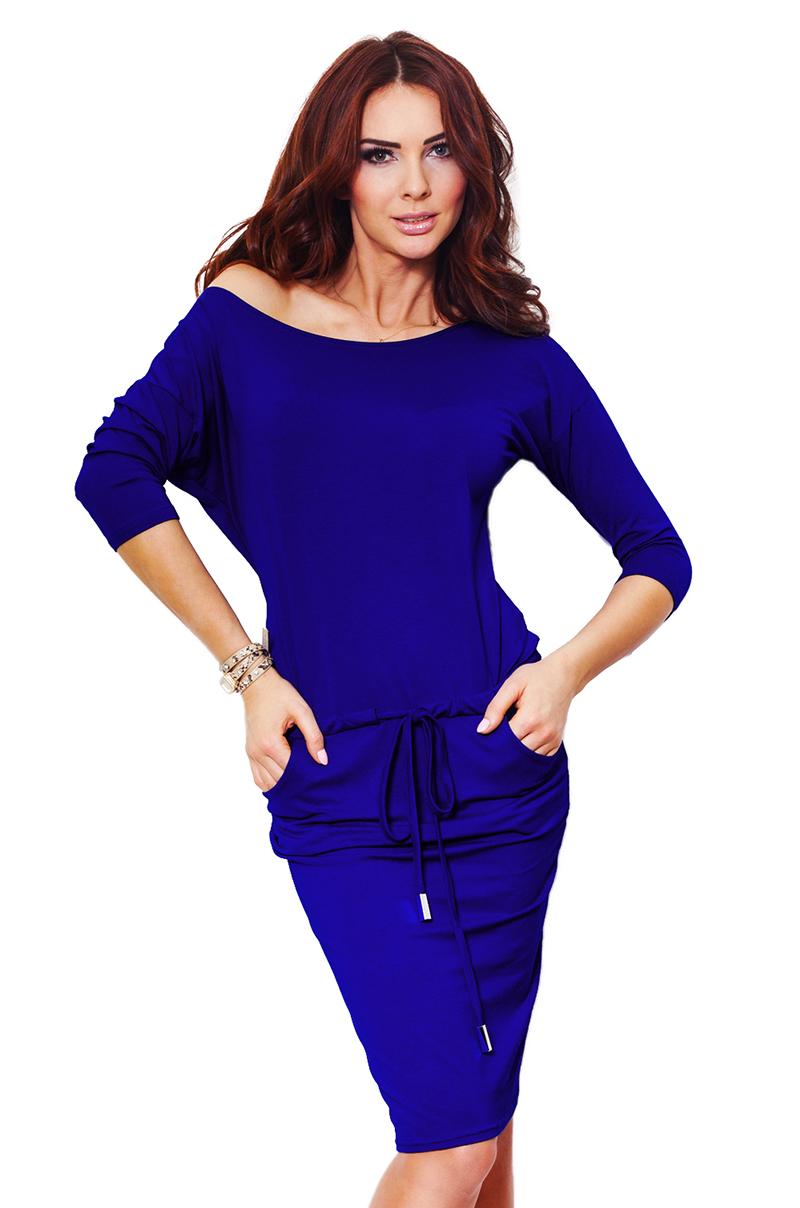 Modrofialové sportovní šaty 13-16B II - XS
