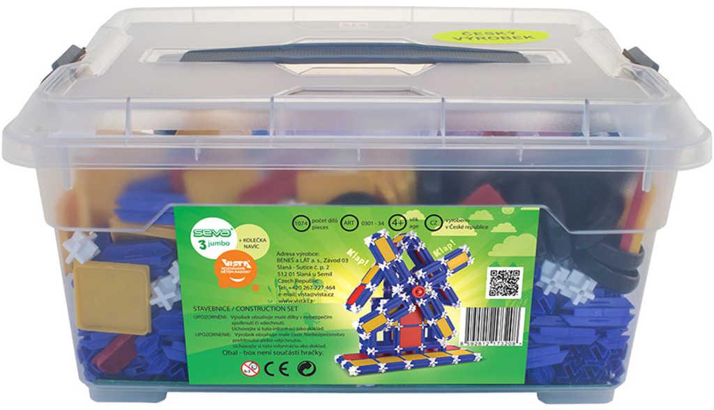 VISTA SEVA 3 Jumbo polytechnická STAVEBNICE v boxu 1074 dílků