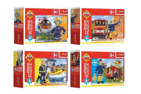 Minipuzzle miniMAXI 20 dílků Hrdinský Požárnik Sam 4 druhy