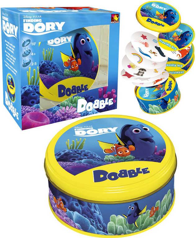 ASMODEE Hra postřehová Dobble Hledá se Dory plechová krabička
