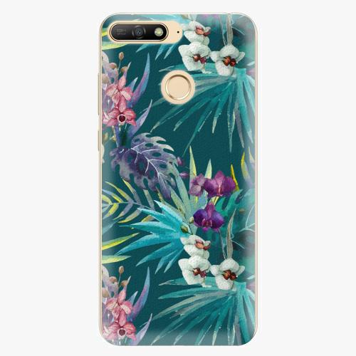 Silikonové pouzdro iSaprio - Tropical Blue 01 - Huawei Y6 Prime 2018