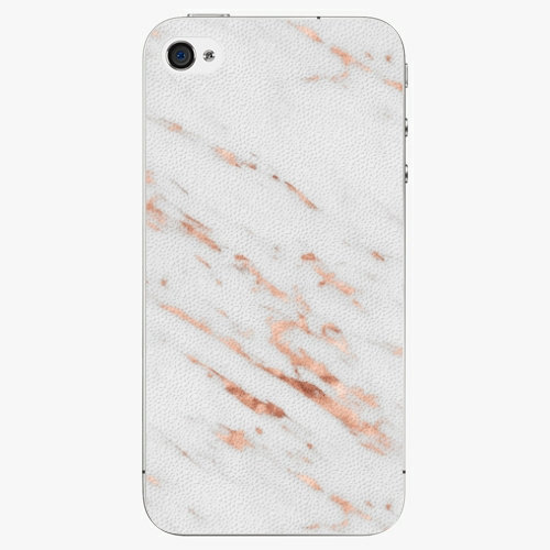 Plastový kryt iSaprio - Rose Gold Marble - iPhone 4/4S