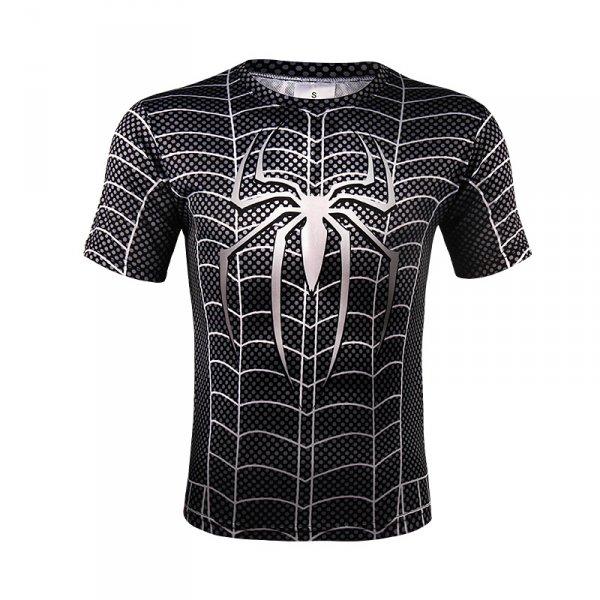 Sportovní tričko - Spiderman SYMBIOTE - černá - Velikost - XL