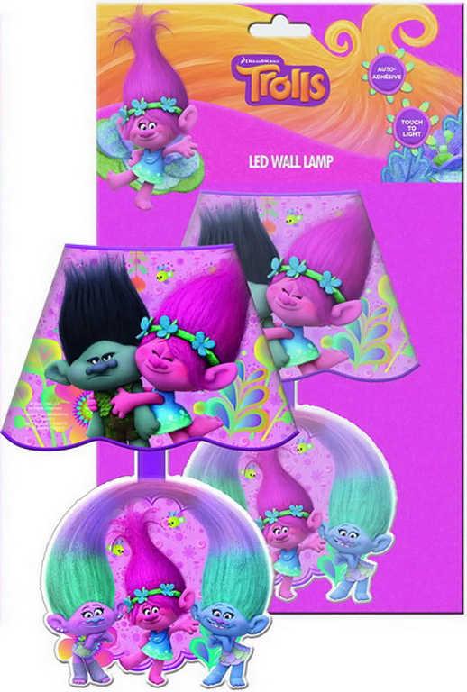 Lampička noční dětská na stěnu Trolls 1 (Trollové) LED nástěnná
