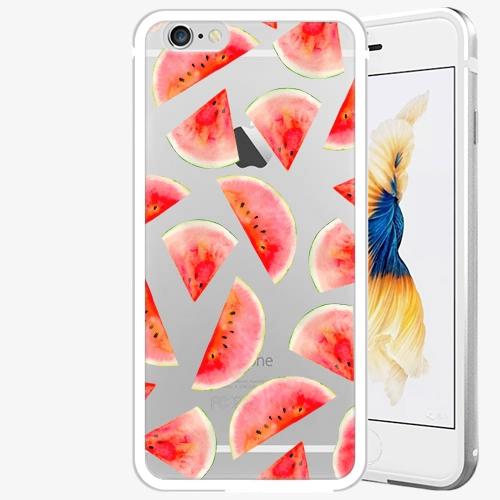 Plastový kryt iSaprio - Melon Pattern 02 - iPhone 6 Plus/6S Plus - Silver