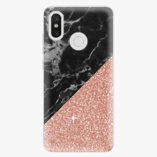 Plastový kryt iSaprio - Rose and Black Marble - Xiaomi Mi 8