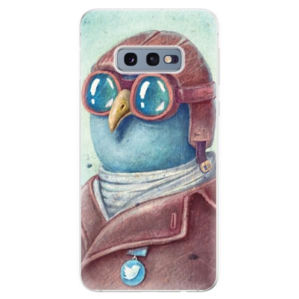 Odolné silikonové pouzdro iSaprio - Pilot twitter - Samsung Galaxy S10e