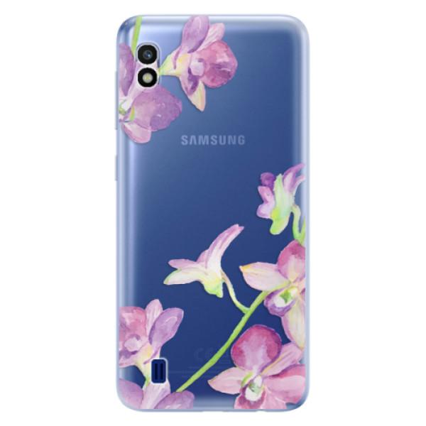 Odolné silikonové pouzdro iSaprio - Purple Orchid - Samsung Galaxy A10