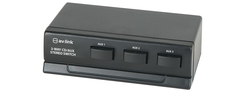 AV:link AD-AUD31, 3-kanálový stereo přepínač audio signálu