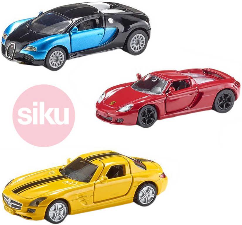 SIKU Sada 3 sportovní auta