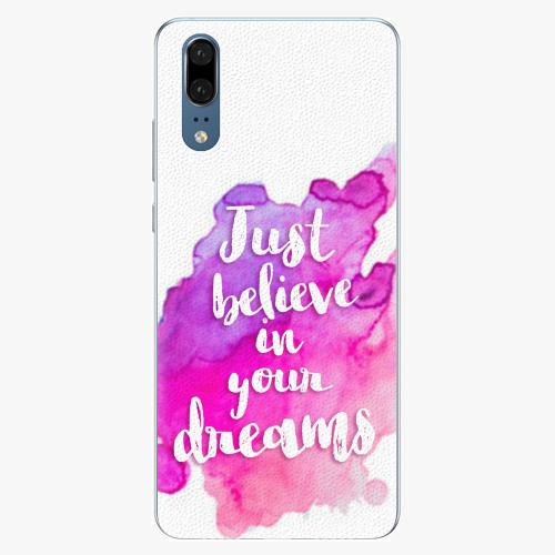 Silikonové pouzdro iSaprio - Believe - Huawei P20