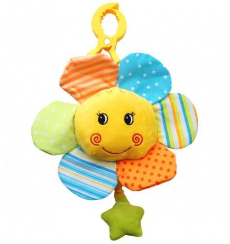 BabyOno Plyšová hračka Sluníčko s melodií na zavěšení pro miminko