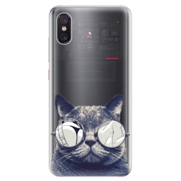 Odolné silikonové pouzdro iSaprio - Crazy Cat 01 - Xiaomi Mi 8 Pro