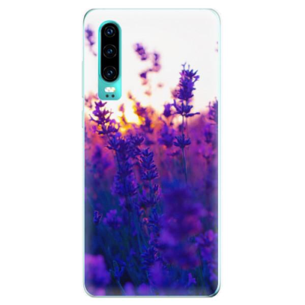 Odolné silikonové pouzdro iSaprio - Lavender Field - Huawei P30