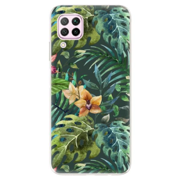 Odolné silikonové pouzdro iSaprio - Tropical Green 02 - Huawei P40 Lite