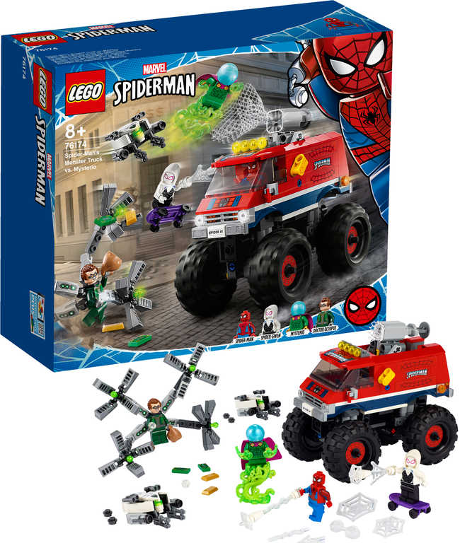 LEGO SUPER HEROES Spiderman v monster trucku vs. Mysterio 76174 STAVEBNICE