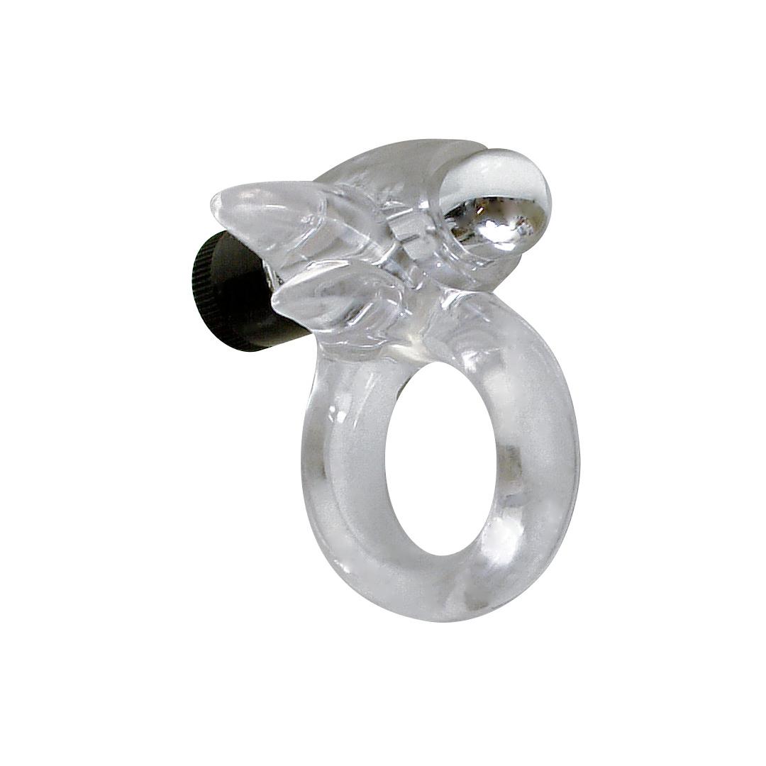 Erekční kroužek s mini vibrátorem Silver Bird