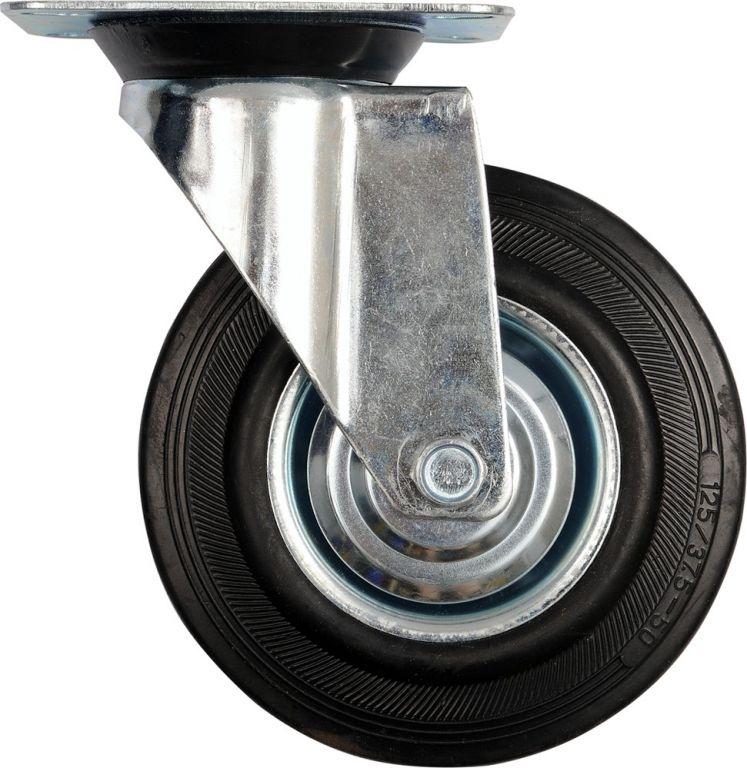 Kolečko otočné, gumové 60 kg, 100/27/130 mm