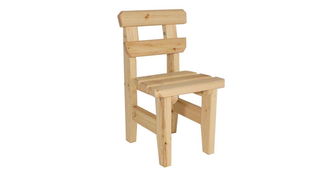 Zahradní dřevěná židle Eduard - bez povrchové úpravy