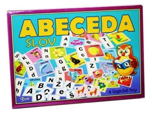 Abeceda slov 4 logické hry společenská hra v krabici 29x20x4cm