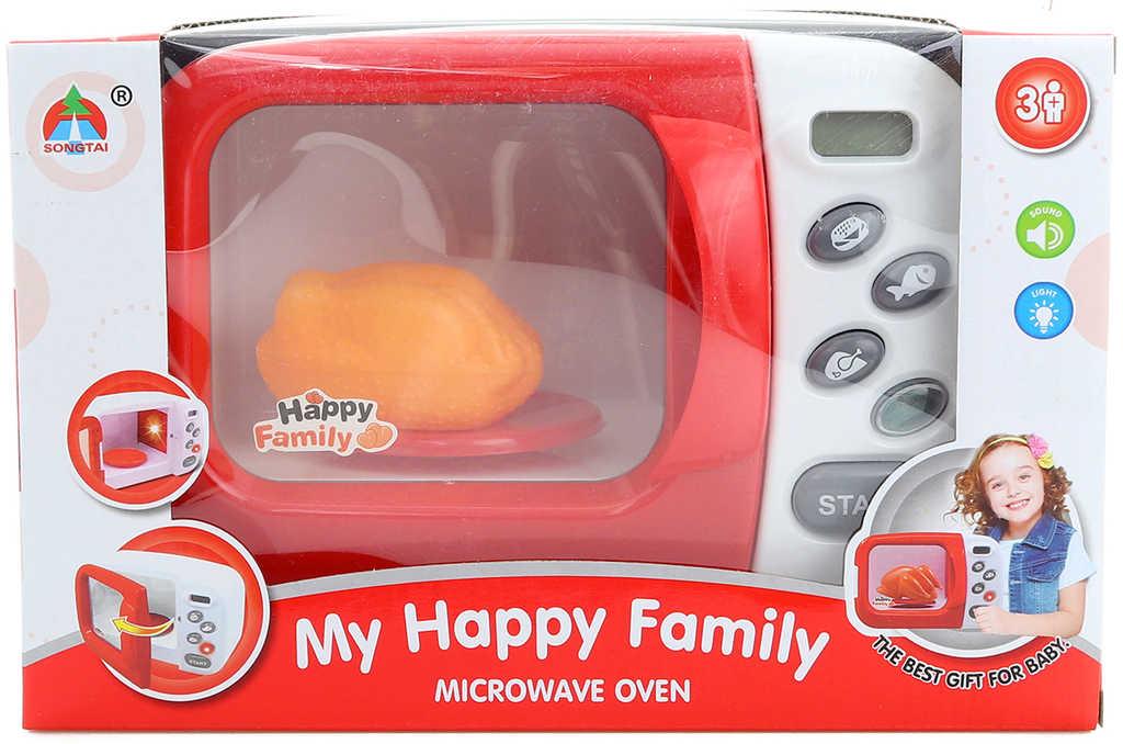 Trouba dětská funkční mikrovlnná + pečené kuře na baterie Světlo Zvuk