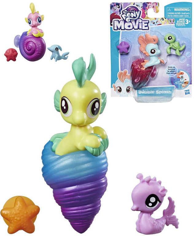 HASBRO MLP My Little Pony mořský mini koník set se zvířátkem s přísavkou