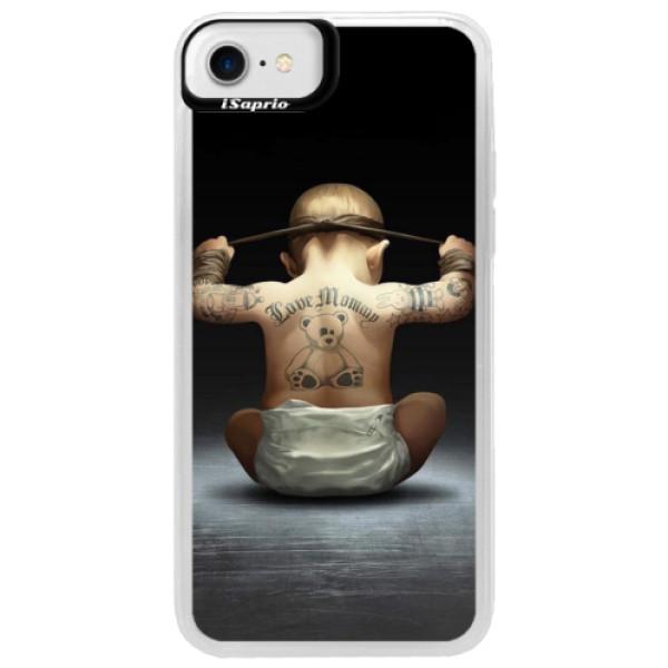 Neonové pouzdro Blue iSaprio - Crazy Baby - iPhone 7