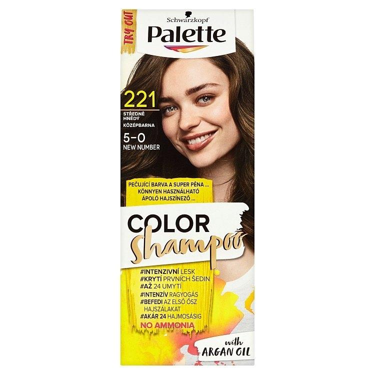 Schwarzkopf Color Shampoo barva na vlasy Středně hnědý 221 (5-0)