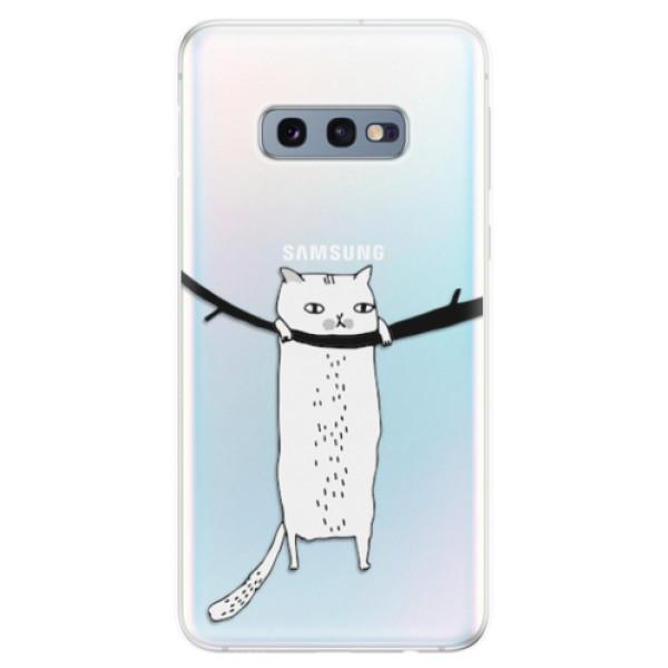 Odolné silikonové pouzdro iSaprio - Hang in there - Samsung Galaxy S10e