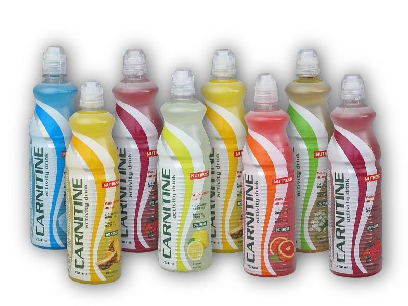 7x Carnitine Activity drink 750ml +1x - ZDARMA-ananas