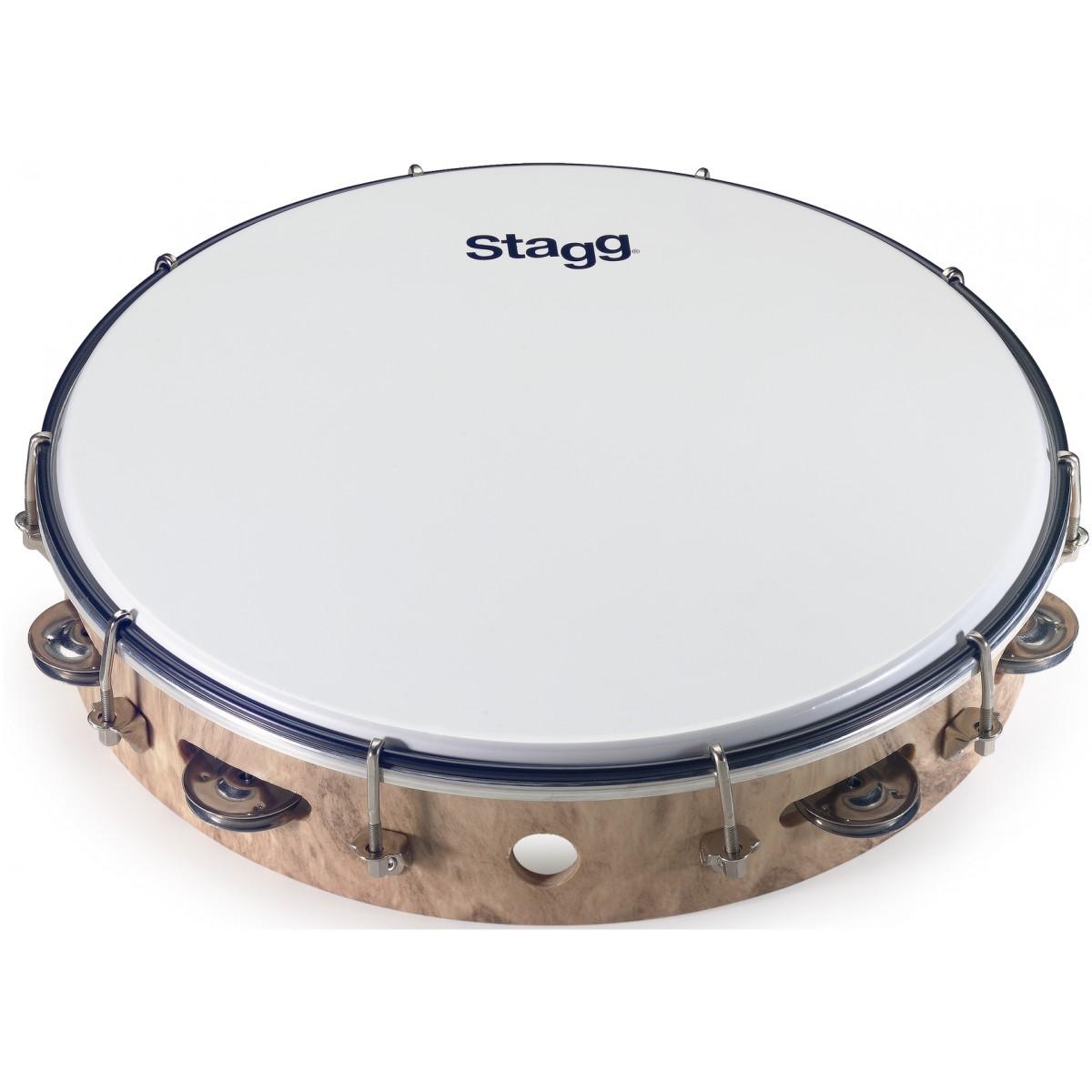 """Stagg TAB-112P/WD, laditelná tamburína s blánou, 12"""""""
