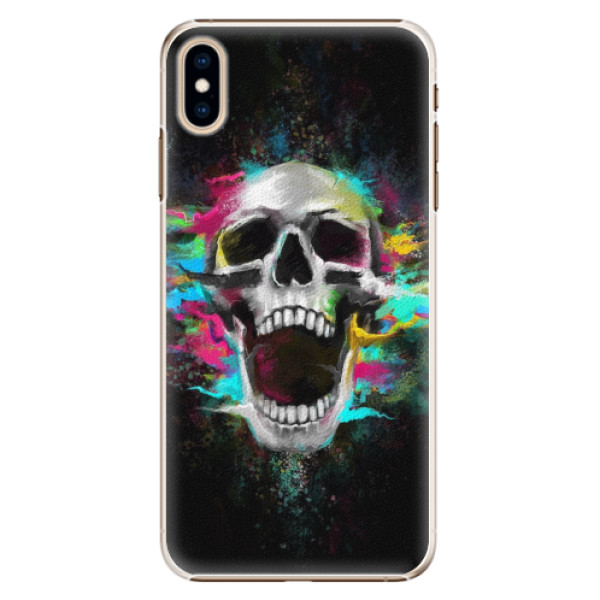 Plastové pouzdro iSaprio - Skull in Colors - iPhone XS Max
