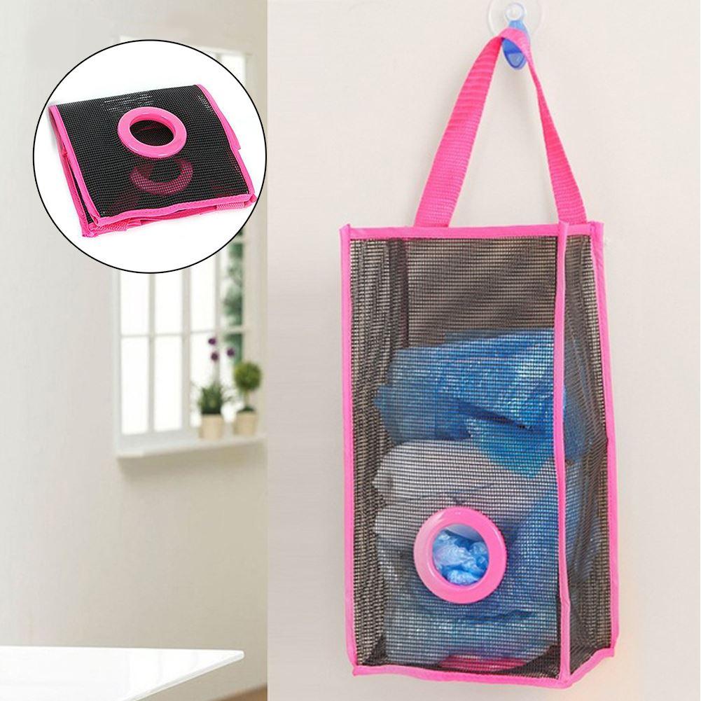 Zásobník na igelitové pytlíky - růžový
