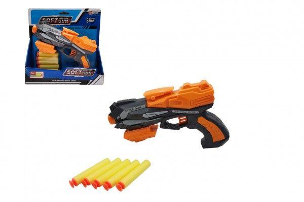 Pistole na pěnové náboje, plast + 5 ks nábojů