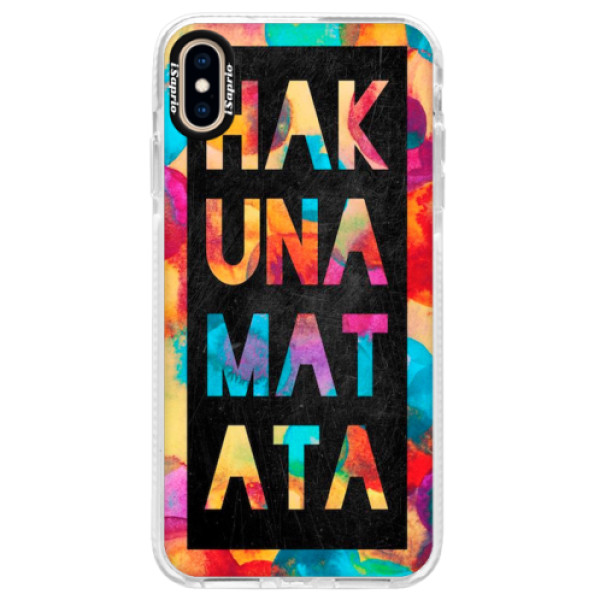 Silikonové pouzdro Bumper iSaprio - Hakuna Matata 01 - iPhone XS Max