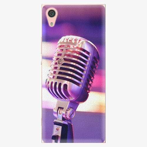 Plastový kryt iSaprio - Vintage Microphone - Sony Xperia XA1