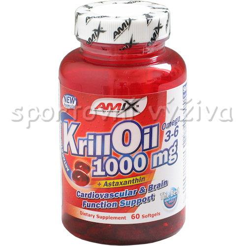 Krill Oil 1000mg 60 tekutých kapslí