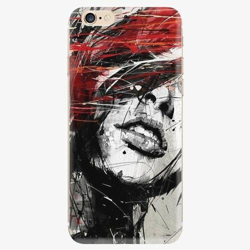 Silikonové pouzdro iSaprio - Sketch Face - iPhone 6/6S
