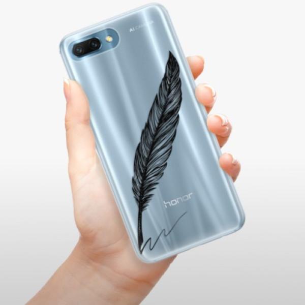 Silikonové pouzdro iSaprio - Writing By Feather - black - Huawei Honor 10