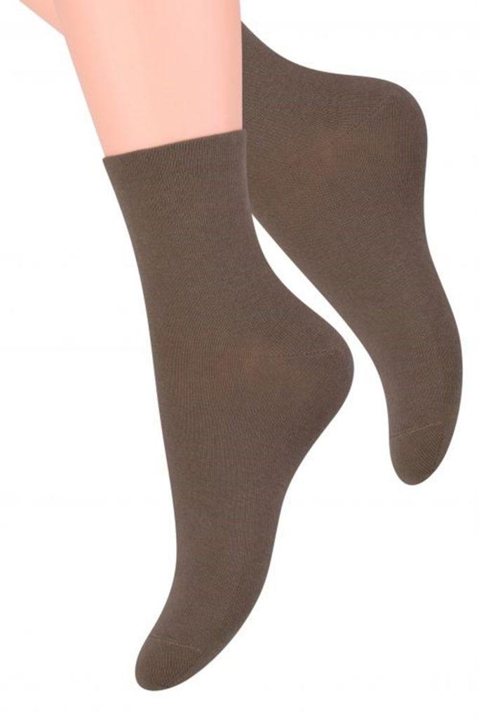 Dámské ponožky 037 dark beige