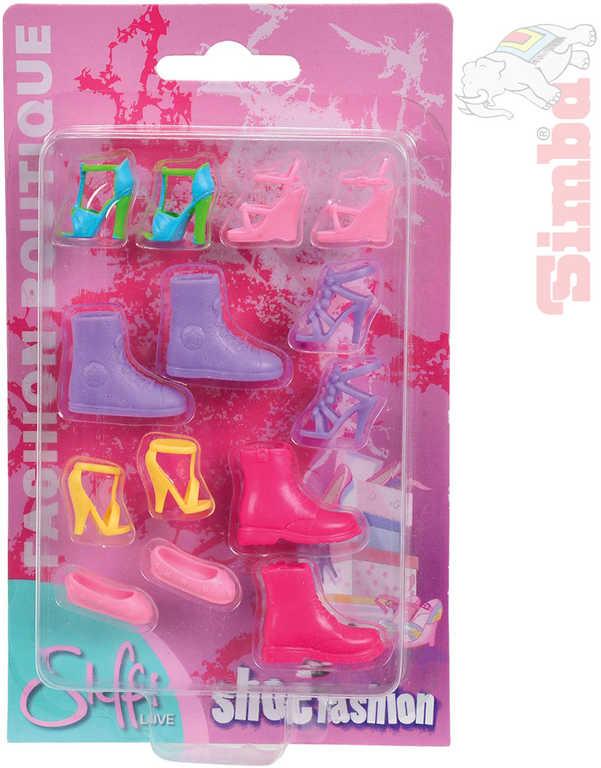 SIMBA Boty panenky Steffi 4 druhy na kartě