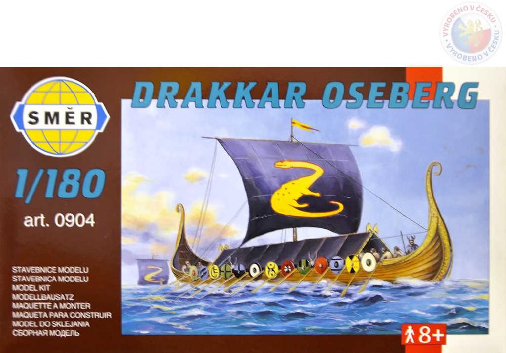 SMĚR Model loď Drakkar Oseberg 1:180 (stavebnice lodě)