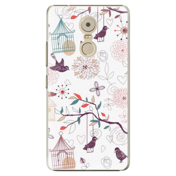 Plastové pouzdro iSaprio - Birds - Lenovo K6 Note