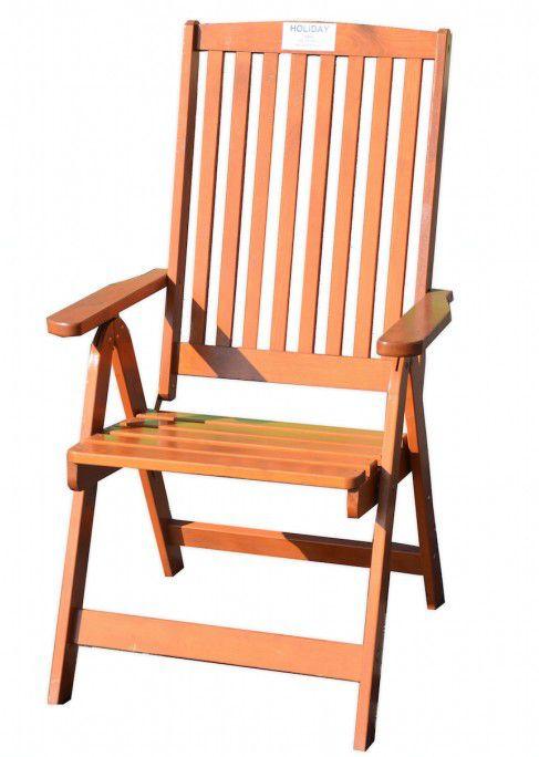 Zahradní skládací židle HOLIDAY lakované FSC