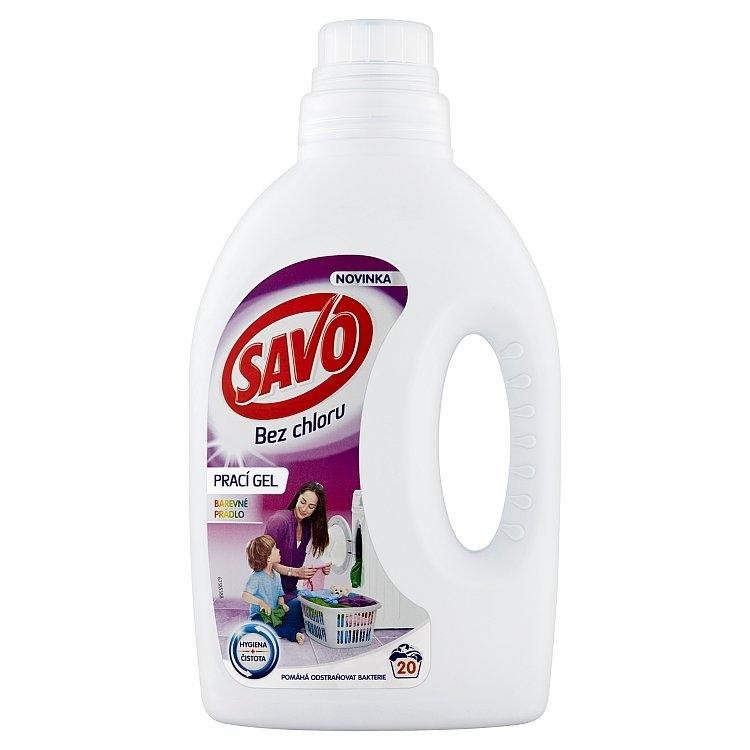 Bez chloru prací gel na barevné prádlo 1 l (20 praní)