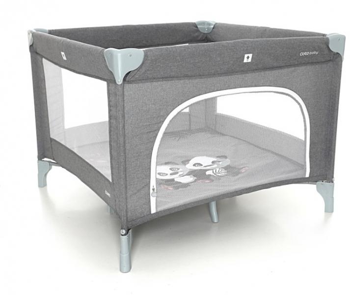 Coto Baby Skládací ohrádka Conti - tmavě šedá/melange - PANDA