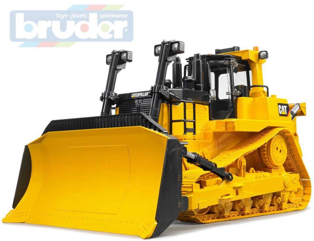 BRUDER 02452 Buldozer stavební stroj Caterpillar žlutý model 1:16